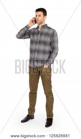 Caucasian Man On The Phone - Phone Call