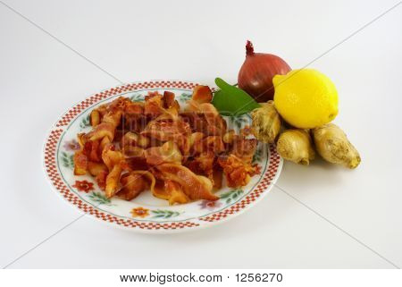 Bacon On Palte