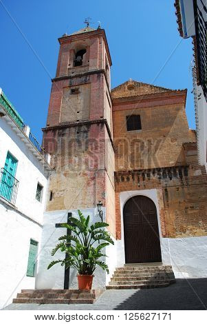 Church in the centre of the village Torrox Malaga Province Andalucia Spain Western Europe.