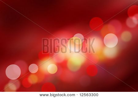 Beautiful Red Bokeh
