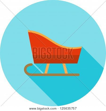 Sled, sledding, snow icon vector image.Can also be used for winter. Suitable for use on web apps, mobile apps and print media.
