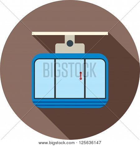 Cable, car, travel icon vector image.Can also be used for winter. Suitable for mobile apps, web apps and print media.
