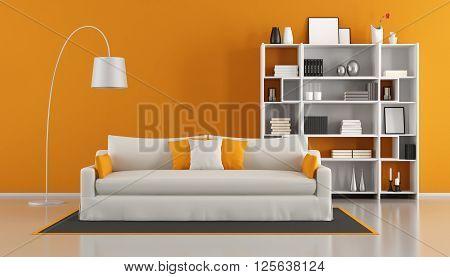 Orange Modern Living Room