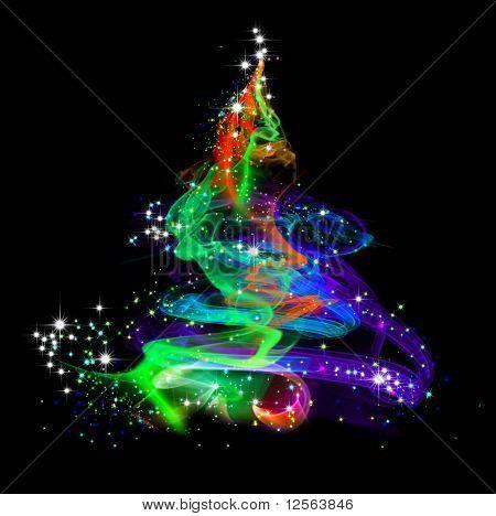 Abstracto colorido árbol de Navidad