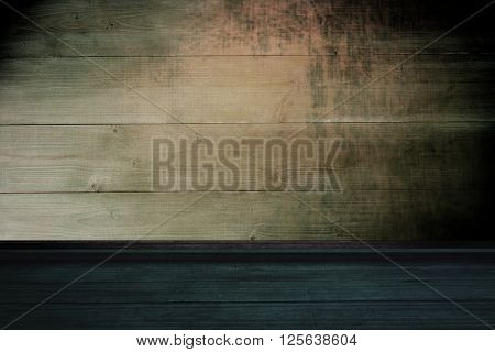 High angle view of wooden flooring against bleached wooden planks background