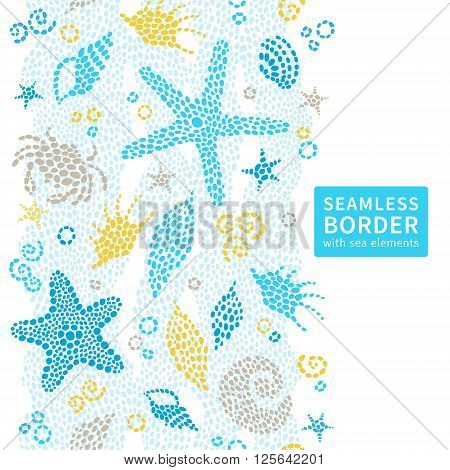 Bright Seamless Pattern With Sea Elements.