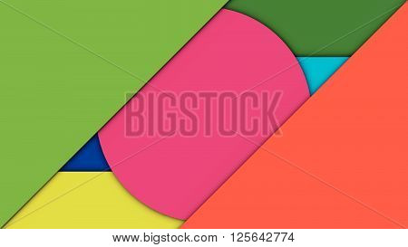 Abstract background material design template. Vector Illustration.