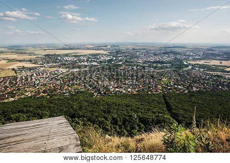 View of the Nitra cityscape Slovak republic Europe. Urban scene.