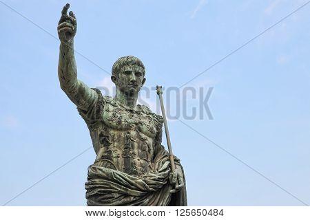 Caesar Augustus, Statue In Rome, Italy