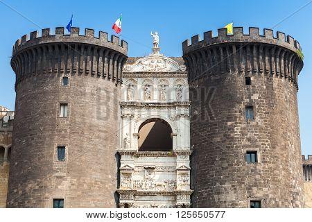 Castel Nouvo.medieval Castle In Naples, Italy
