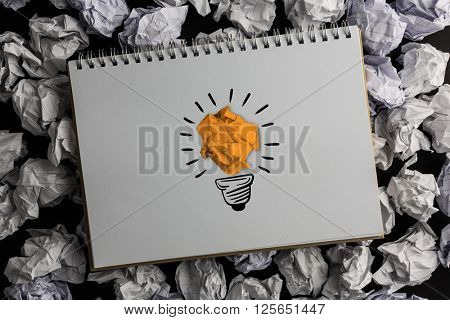 A cloth which is offending against light bulb