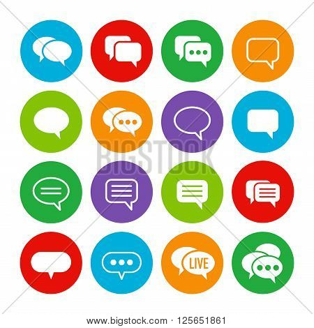 Speech bubble colorful set. Ready to use. You can recolor it by using