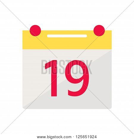 Calendar isolated icon on white background. Month calendar. Flat style vector illustration.
