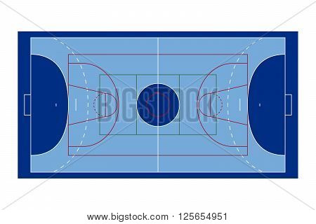 Illustration of a Blue Multi Sports Court