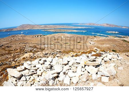 Famous   In Delos Greece  Historycal  Old Ruin Site