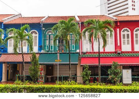 Old Painted Buildings In Singapore