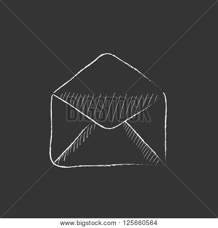 Envelope. Drawn in chalk icon.