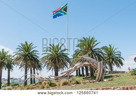 PORT ELIZABETH SOUTH AFRICA - FEBRUARY 27 2016: Art at Donkin Reserve along Route 67 consisting of 67 Public Art Works symbolising Nelson Mandelas 67 years dedicated to the Freedom of South Africa