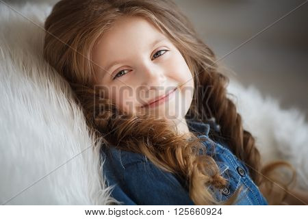 Cute Little Girl With Braids