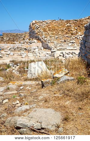 Archeology  In  Acropolis And Old Ruin Site