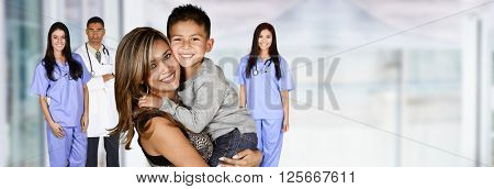 Mother who is with her child in the hospital