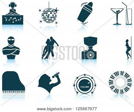 Set Of Night Club Icons