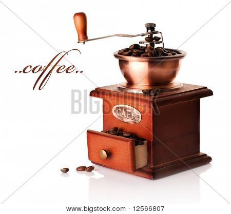Coffee Grinder over white