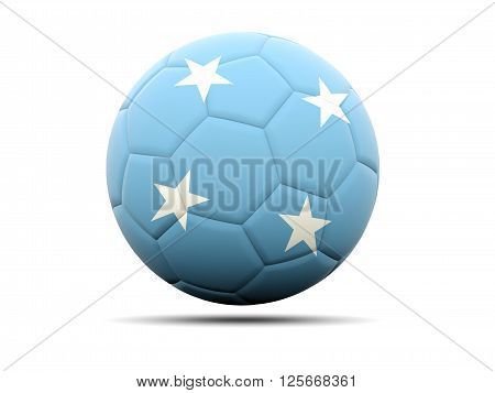 Football With Flag Of Micronesia