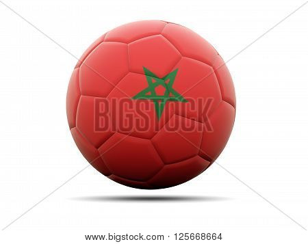 Football With Flag Of Morocco