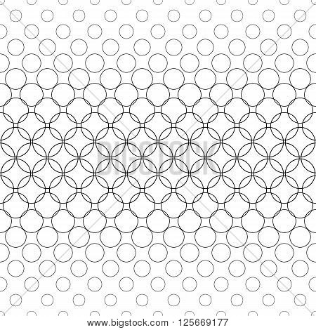 Seamless black and white abstract circle pattern design