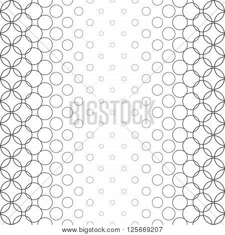 Seamless black white vector circle pattern design background
