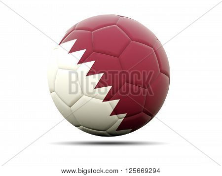 Football With Flag Of Qatar