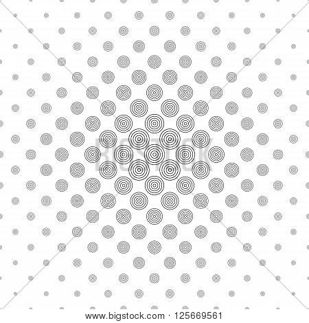 Black and white abstract circle pattern background