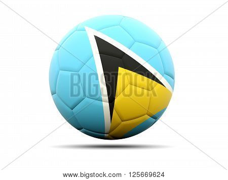 Football With Flag Of Saint Lucia
