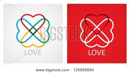 Love concept with abstract heart icon. Illustration for your decoration.