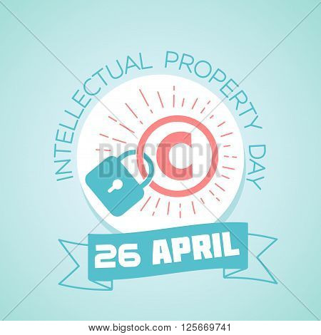 Calendar for each day on April 26. Greeting card. Holiday - World Intellectual Property Day. Icon in the linear style