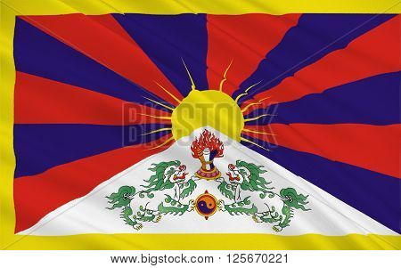 Flag of Tibet Autonomous Region (TAR) or Xizang Autonomous Region called Tibet or Xizang for short is a province-level autonomous region of the People's Republic of China (PRC)
