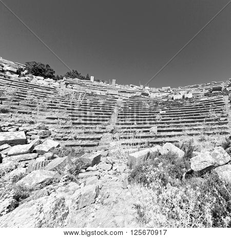 The Old  Temple And Theatre In Termessos Antalya Turkey Asia Sky And Ruins