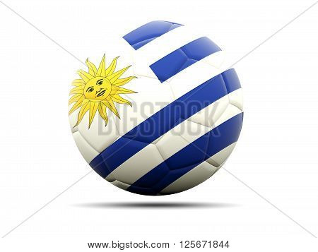Football With Flag Of Uruguay