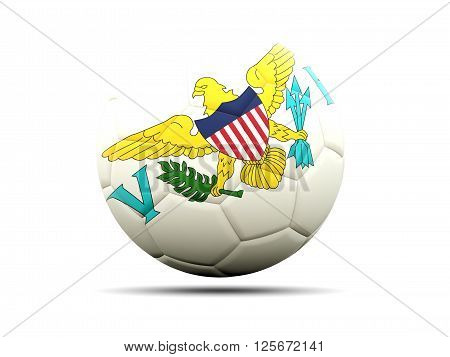 Football With Flag Of Virgin Islands Us
