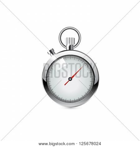 stop watch, realistic illustration on white background.