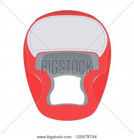Boxing helmet vector illustration. Boxing helmet isolated on white background