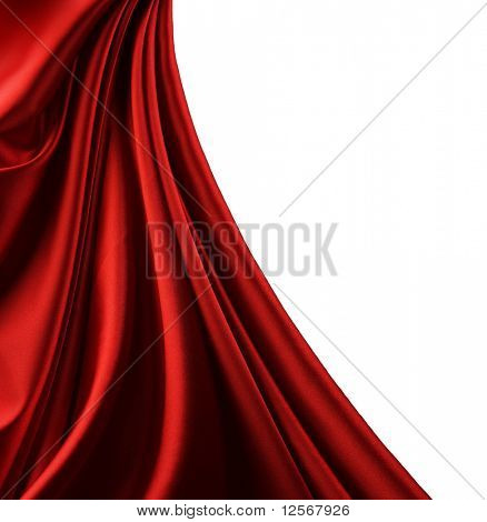 Red Satin Border.Isolated auf weiß