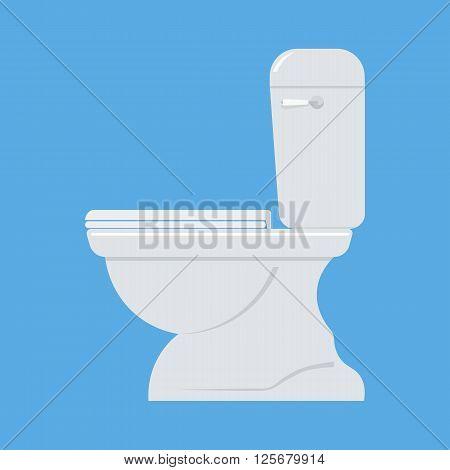 Toilet bowl vector illustration. tylet bowl isolated vector