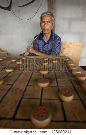 PAI CITY,  CHIANG MAI province , THAILAND - JULY 21, 2005 : 