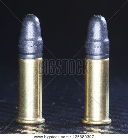 Ammunition made for use in a twenty two long rifle gun
