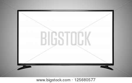 Modern blank empty flat screen TV set.