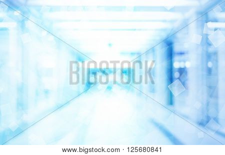 abstract blue tech background, bue background with abstract lines pattern