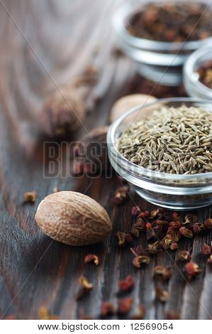 Spices- Caraway and nutmeg