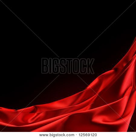 Red Silk Border.Over Black